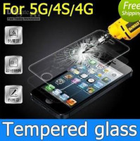 Wholesale 9H Screen Protector for iphone S S C Tempered Glass Explosion proof Shatter proof Film Guard Shield D MM with retail