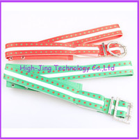 Wholesale Party Hip Hop LED Canvas Waist Belt in Bar Sports waist support lighted LED waist belt