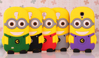 For Apple iPhone Silicone  3D Despicable Me Soft Silicon Cartoon Gel Rubber case Cover For iPhone 5 5G 5S 5C 4 4S Galaxy S3 S4 Mini i8190 i9190 iPod Touch Big Eye