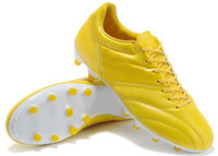 Wholesale Yellow Brazil Soccer Shoes Football Shoe Men Cheap Sports Boots Classic Premier Leather CleatsCelebration Pack Limited Edition Disscount New