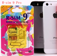 Wholesale R SIM RSIM9 R SIM9 Pro Perfect SIM Card AUTO Unlock Official IOS for iphone S G S C GSM CDMA WCDMA Sprint Verizon Good