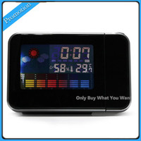 Best LED Light LCD Projection Digital Weather Thermometer Alarm Clock Snooze Station