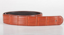 Mens Genuine Leather Belt Without Buckle 115cm