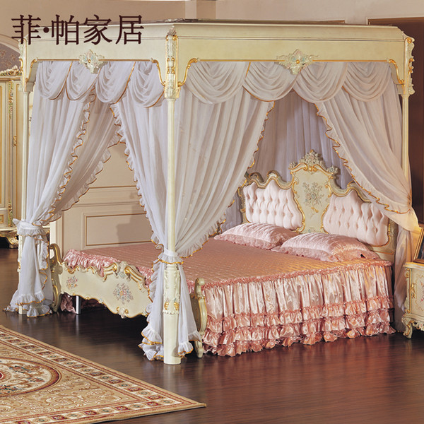 Francese camera da letto mobili in stile - legno antico mano ...