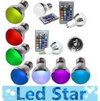 Wholesale E27 Watt V Magic Color Changing GU10 E14 LED RGB Bulb Light IR Remote Control