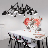 Wholesale 12 Light Moooi Ron Gilad Dear Ingo Spider Chandelier Modern Wrought Iron Pendant Lamp Chandelier Lighting