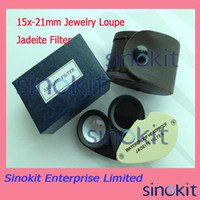 Wholesale 2 in Gem tool X mm Jewelry Loupe Jadeite Filter JF15X