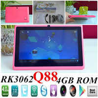 Wholesale JW Free DHL Cheapest quot inch RK3026 Android Q88 Rockchip Dual core Ghz tablet PC MB RAM G ROM Dual Cameras WIFI tablets