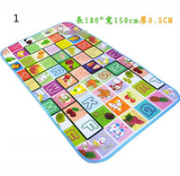 Cheap Kids play mat 180*150*0.5 CM Fruit Game pattern Family picnic carp retail