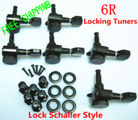Wholesale NEW Locking Tuners Tuning Pegs Machine Heads Right Handed Inline Black with Lock Schaller Style