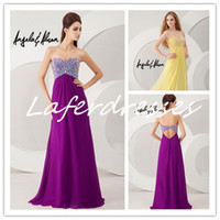 Cheap 2014 Amazing Sweetheart Open Back A Line Floor Length Purple Chiffon Prom Dresses with Sparkling Crystal Peacock Party Evening Gowns 0214