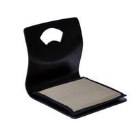 asian chairs - Floor Legless Chair Cushion Reversible Black Finish Asian Furniture Living Room Japanese Zaisu Tatami Legless Chair Design
