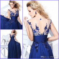 Cheap Reference Images Long Prom dress Best Crew Chiffon Crystal Evening