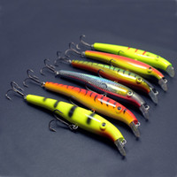 Cheap 6pcs lot Megabait Pike Fighter Fishing Lure Minnow Hard Plastic Baits Bait 40g 155mm Free Shipping