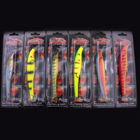 Cheap Free Shipping!!! 120pcs lots Megabait Pike Fighter Fishing Lure Minnow Hard Plastic Baits Bait 40g 155mm
