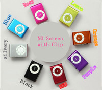Wholesale NO Screen MP3 player with clip include earphone amp cable with Crystal Box up Free FAST Shipping