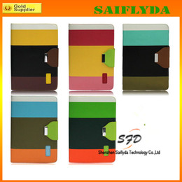 PU Leather Case Wallet Credit Card Slot Folio Cover For ipad Air ipad 5 Colorful Rainbow Case Stand leather case