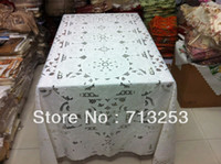 Wholesale No big size tabel towel embroidered table cloth with12pcs placemat for wdding home hotel cm