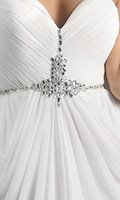 Wholesale Finedresses Hot Selling Long Prom Dresses Sweetheart Sequins Beaded Pleated Chiffon A Line Backless Evening Gowns Bridesmaid Dresses ED15