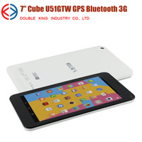 Wholesale Hot Cube U51GTS Talk XS MTK8312 Dual Core Android IPS Screen G Phone Call Tablet PC MB GB Bluetooth GPS Dual Camera phablet