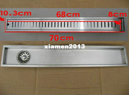 Wholesale 70cm x10cm Large traffic stainless steel bathroom shower long floor waste floor linear side waste drain bc05