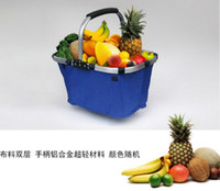 Wholesale 1pcs Brand New Portable Folding Collapsible Vegetable Fruit Fast food Market Tote Basket Bag Camping Picnic