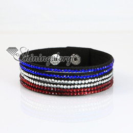 genuine leather crystal rhinestone wrap slake bracelets wristbands adjustable fashion leather bracelet jewelry