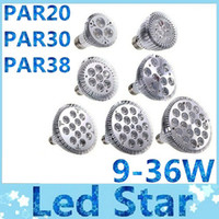 Wholesale Ultra Bright CREE E27 Dimmable PAR20 PAR30 PAR38 LED Light Bulb Lamp W Led spotlight Warm Pure Cool White V
