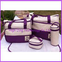 Wholesale Fashion Multi functional High Quality Tote Baby Shoulder Durable Diaper Bags Nappy Mummy Bags for baby care