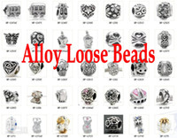 Wholesale Mixed style Bracelet Jewelry DIY Accessories Ancient Silver Alloy Retro Charms Pandora Beads Loose Beads