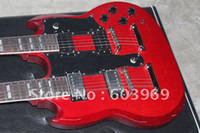 Solid Body 6 Strings Mahogany 2007 Led Zeppeli Page 1275 Double Neck, Signed Aged , Dark Cherry Guitar Confidential configuration
