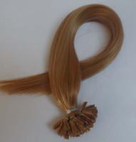 Cheap Indian Hair Keratin tip hair Best ash blonde Straight flat human hair