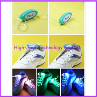 Wholesale Newest th Gen Fiber Optic LED Shoe laces platube neon led strong light flashing shoelace with retail packaging