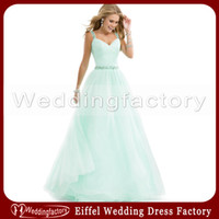 Reference Images baby blue prom dresses - Mint Green Prom Dresses Lovely A Line Beaded Crystals Spaghetti Straps Ruched Baby Blue Tulle Graduation Dress