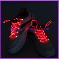 fiber optic lighting - Fiber Optic LED light up shoelaces shoe laces disco flash Optical Fiber flashing Funny led shoelace