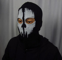 Wholesale New Call of Duty COD Cosplay Balaclava Ghost Skull Face Mask Skateboard Bike Hood Caps Hats Masks Sports CS Party performance props black