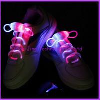 Wholesale 3th Gen led shoelaces Muti colors Shoe Laces for parties performaing LED Flashing Shoelace Shoe Laces Kids Toys
