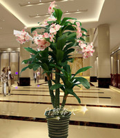Plastic ECO Friendly  Large plant bonsai plastic artificial flower fake tree floor decoration bonsai double phalaenopsis