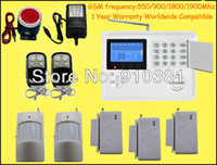 Yes home/office security 850/900/1800/1900Mhz Free Shipping! New quad 4 band GSM fire Alarm System SMS PSTN Home House Wireless phone security 850 900 1800 1900Mhz auto dial