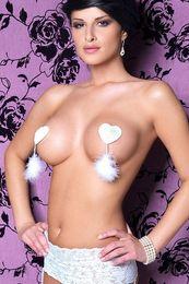 Wholesale Marabou Tassel Heartshape Womens Pasties LC0585