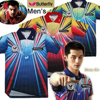 Wholesale Butterfly TENERGY table tennis shirt air spark Men shirt with patches Sportswear Jersey Zhang JiKe Timo Boll Babminton t shirt