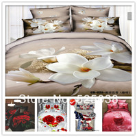 Cheap 6 PCS Free shipping -3d bed lines-bed sets and comforter-classic home decor--bed linen 3d
