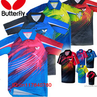Wholesale Butterfly TENERGY table tennis shirt Men shirt with patches Sportswear Jersey Zhang JiKe Timo Boll Babminton t shirt