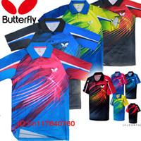 Wholesale Butterfly TENERGY table tennis shirt Men shirt with patches Sportswear Jersey Zhang JiKe Timo Boll Babminton t shirt
