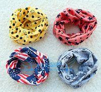 Wholesale children warm scarves baby collar shawl kids joker scarf boys girls classic Flag Stars neckerchief autumn accessories