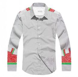 Wholesale EAST KNITTING SL New Autumn summer men s casual shirts Slim lapel long sleeved men s shirts M L XL