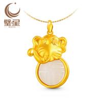 Cheap Pik Star Jewelry elephant blessing as hard millipede Inlaid and Tian Baiyu gold inlaid jade pendants YDDZ150308