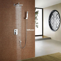 Wholesale Fast delivery High quality bathroom concealed inwall rainfall square shower set faucet BR S1010 A