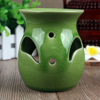 Wholesale Dia cm Blue Green White MINI Ceramic Jars Color Essential Oil Burner Home Fragrance Containers DC807
