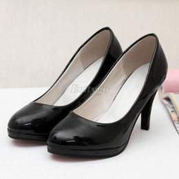 Wholesale 2015 Best Sales Stiletto High Heels Office Dress Shoes Work Court Platform Pumps Shoes Black Red Colors Ex24